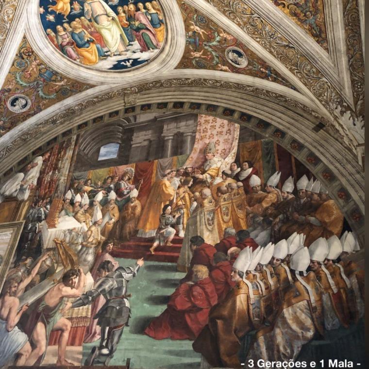 Vaticano - Raffaello Sala do Incêndio no Borgo